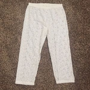 XL See-through Lace Elastic Waist Capris/Undies...